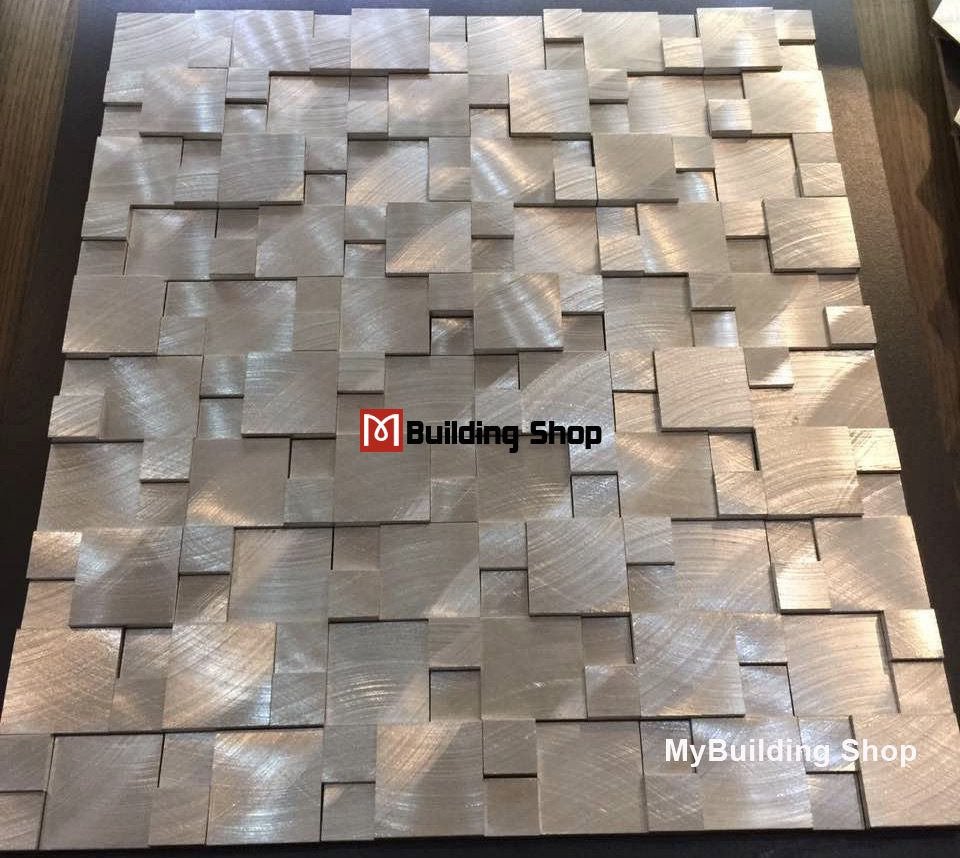 Brushed silver metal mosaic kitchen wall tile backsplash smmt114 brushed silver metal mosaic kitchen wall tile backsplash smmt114 aluminum stainless steel metallic tiles 3d mosaic doublecrazyfo Images