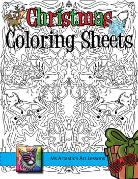 Christmas Coloring Pages Zen Doodle Holiday Activity Christmas Coloring Sheets Christmas Art Projects Classroom Fun