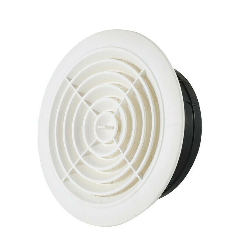 Round Air Vent Abs Louver Grille Cover Adjustable Exhaust Vent For Bathroom Office Ventilation Aia99 Heatingcoolinground Air Vent Exhaust Vent Air Vent Vented