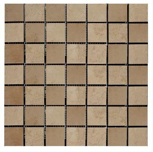 "Decorative Stone Tile Interceramic  Cedar Stone Random Mosaic 13"" X 13"" Floor"