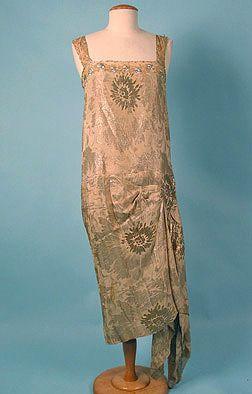 Silver & Gold Lame Dress 1920s