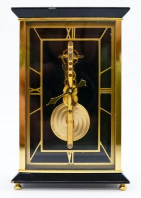 Jaeger Lecoultre Brass Skeleton Desk Clock Antique Clocks Mantel Clock Hourglasses