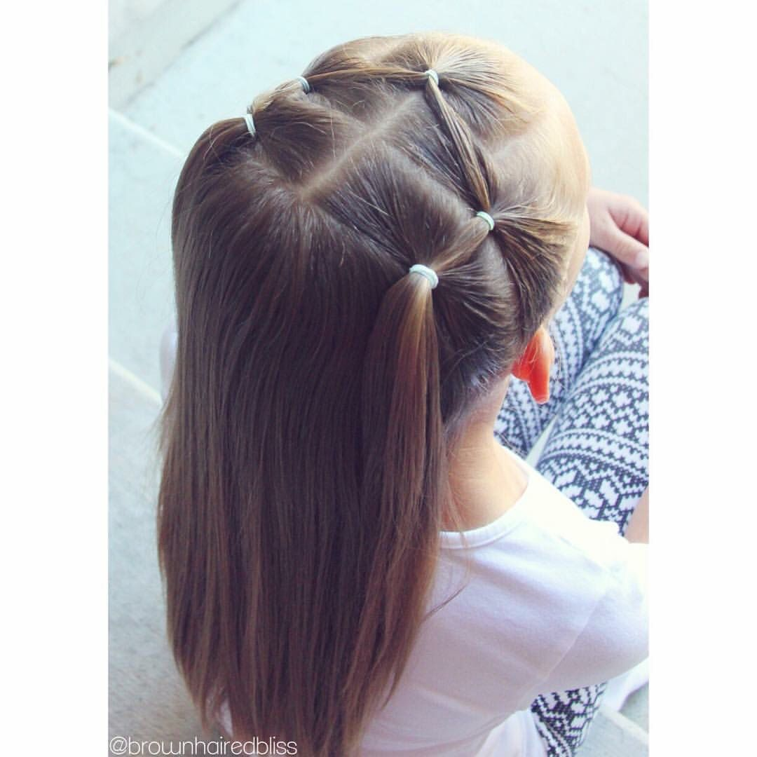 Brown Haired Bliss From Facebook Hair Styles Little Girl Hairstyles Kids Hairstyles