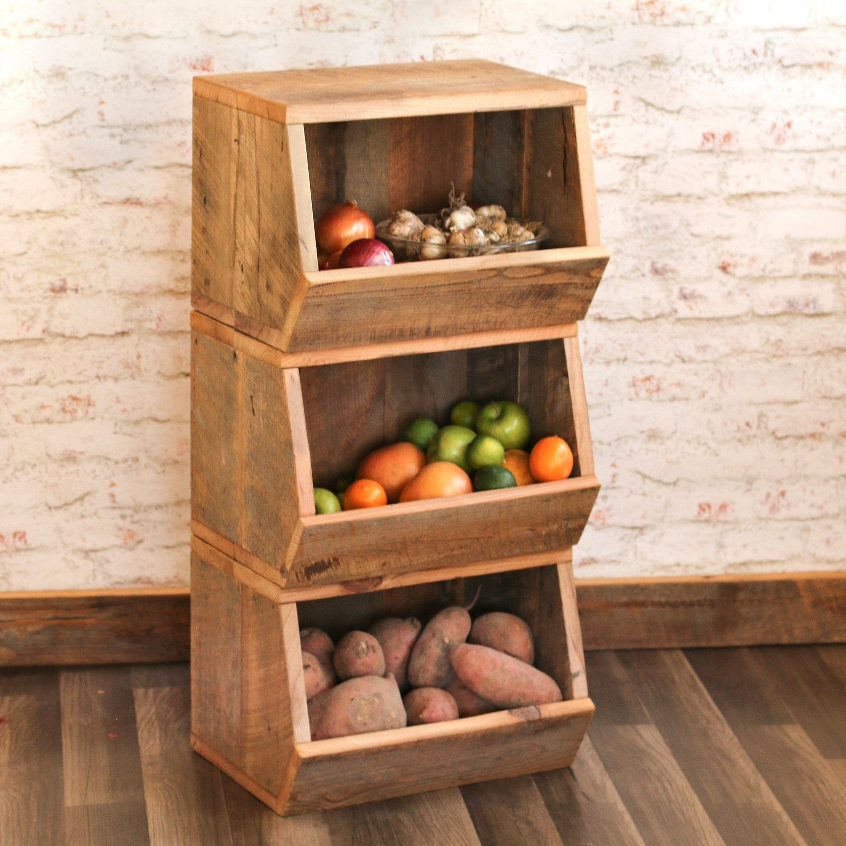 These Storage Bins Look Great For Organizing The Kitchen Kids Toys And Clutter In The Mudroom Vegetable Bin Produce Storage Vegetable Storage