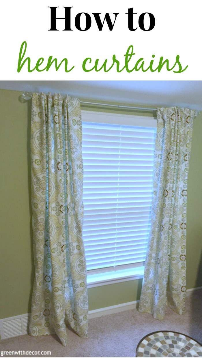 how to hem curtains challenge week tutorials and primitives - How To Hem Curtains
