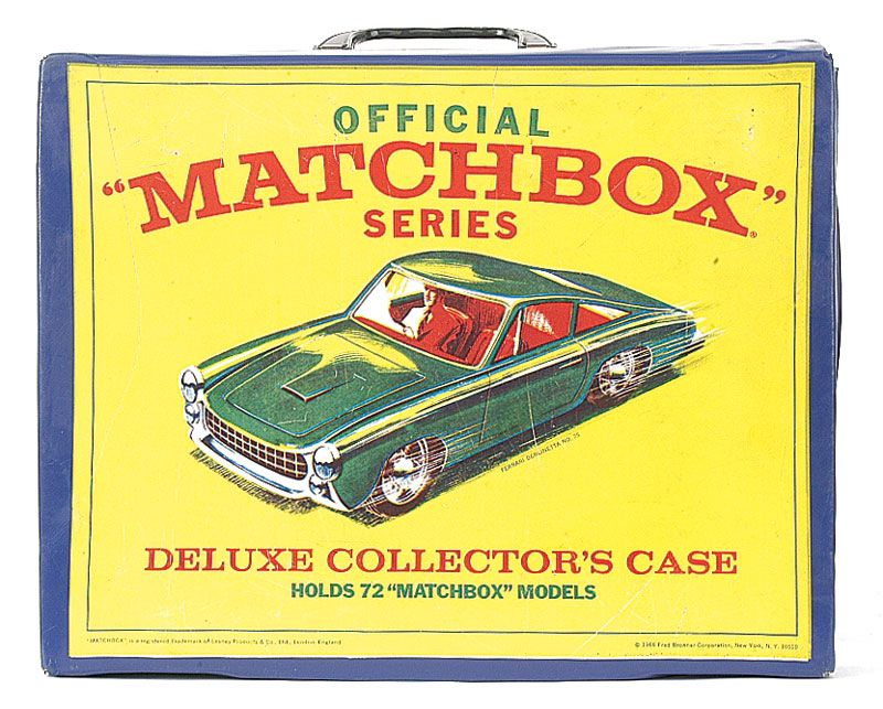 Matchbox Regular Wheels 1968 Fred Bronner US Issue Deluxe Collectors Carry Case designed to hold 72 Models
