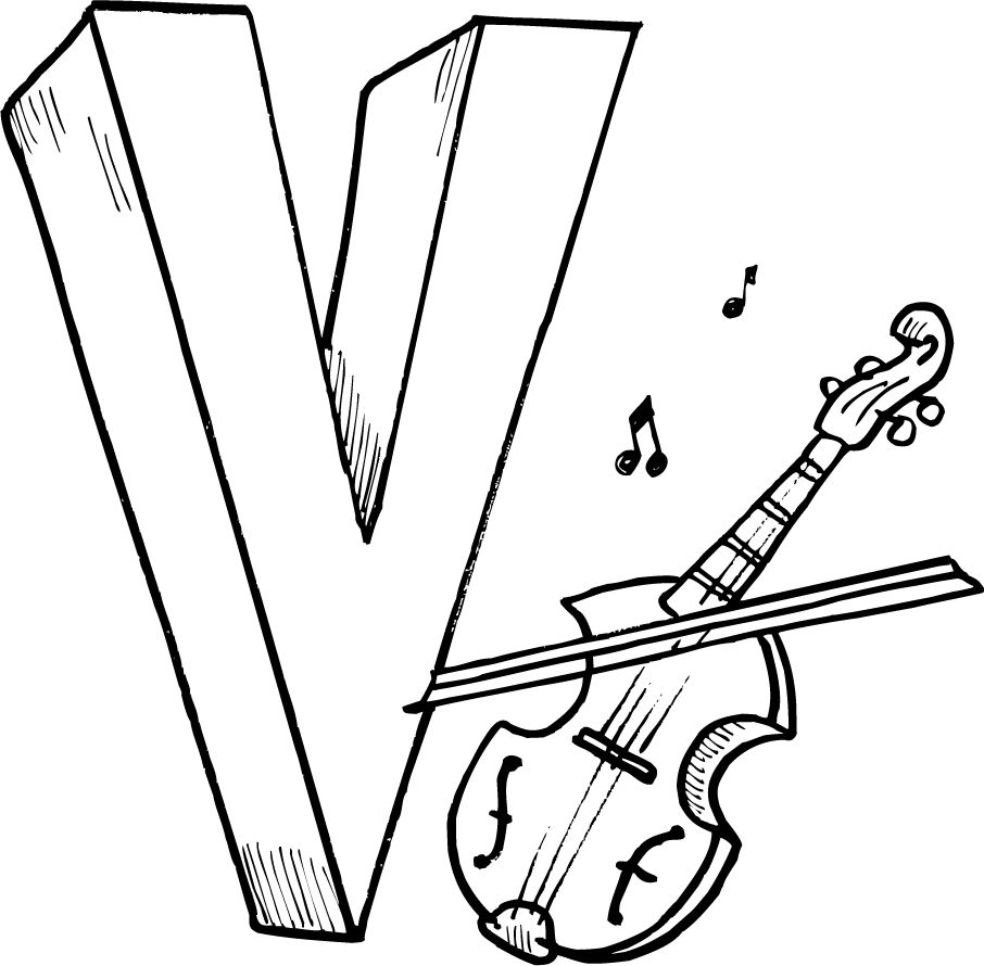 Letter V Coloring Pages Printables For Kids Alphabet Coloring