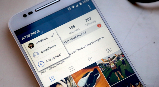 You Can Now Switch Between Accounts On Instagram