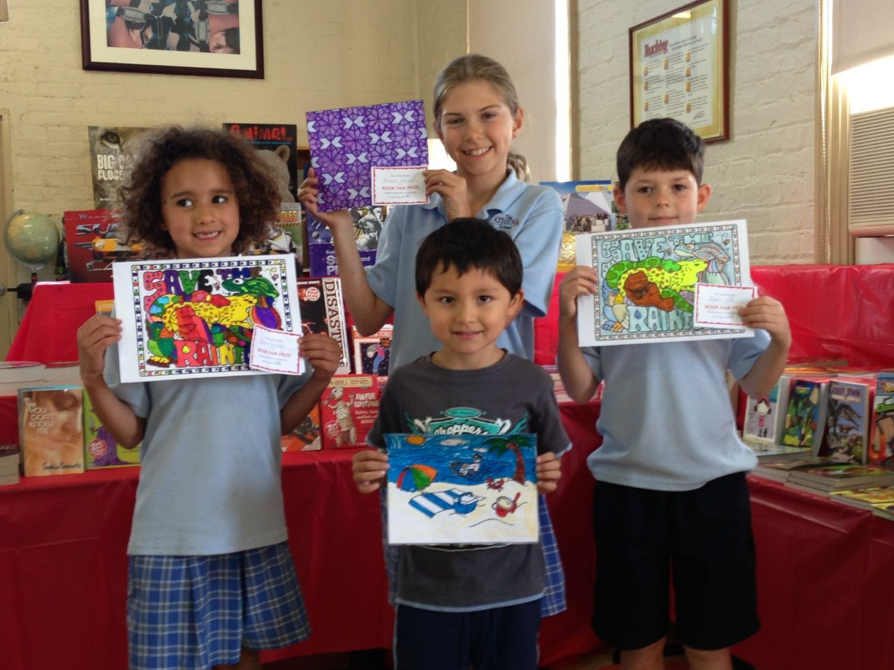 Our colouring-in competition winners at The Athena School, Independent Primary and High School Newtown! Well done to you all!