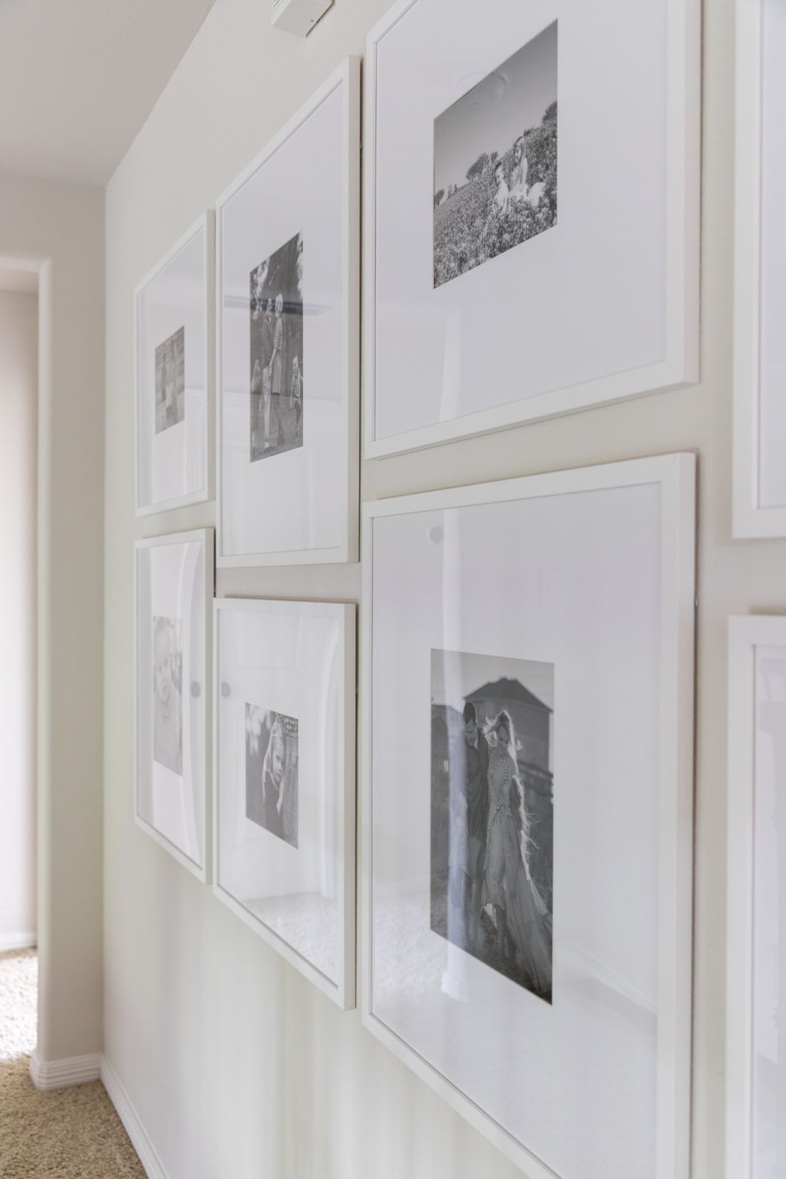 Gallery Wall With Custom Picture Frames Crazy Wonderful Simple Gallery Wall Photo Wall Gallery Modern Gallery Wall