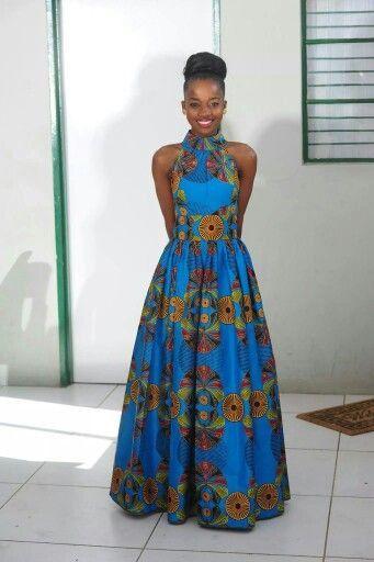 Efua African Print Maxi Dress/ Ankara Dress / Ankara Gown ...
