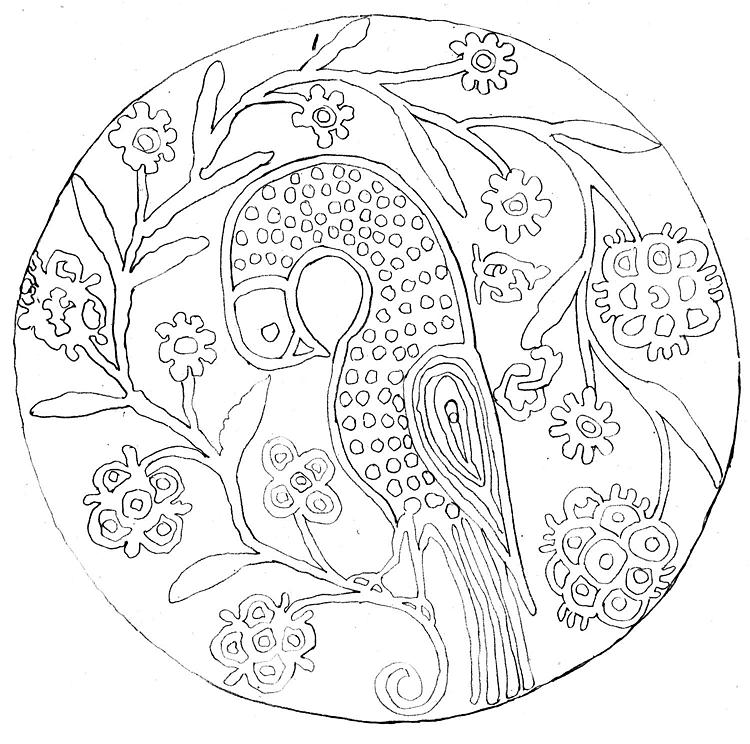 schönerpfauindenblumenmalvorlagen 750×744
