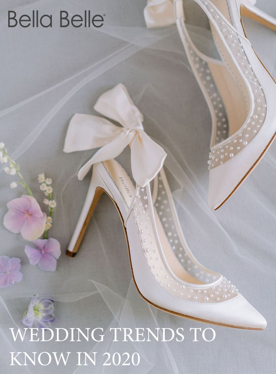 Top 2020 Bridal Shoe Trends In 2020 Bride Shoes Wedding Heels Embellished Shoes