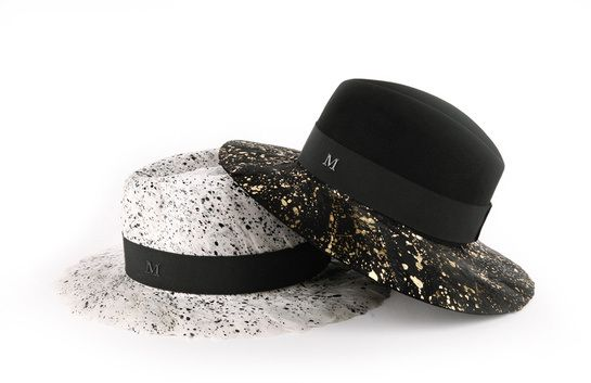 Maison Michel splattered hat