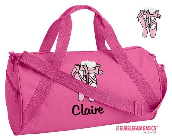 b8322db77593 Custom Embroidered Monogrammed DANCE Bag Ballet Hot by BubblegumJR ...