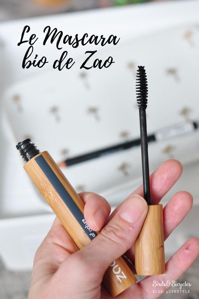 Maquillage bio de Zao Make Up test et avis de leurs mascara , fonds de