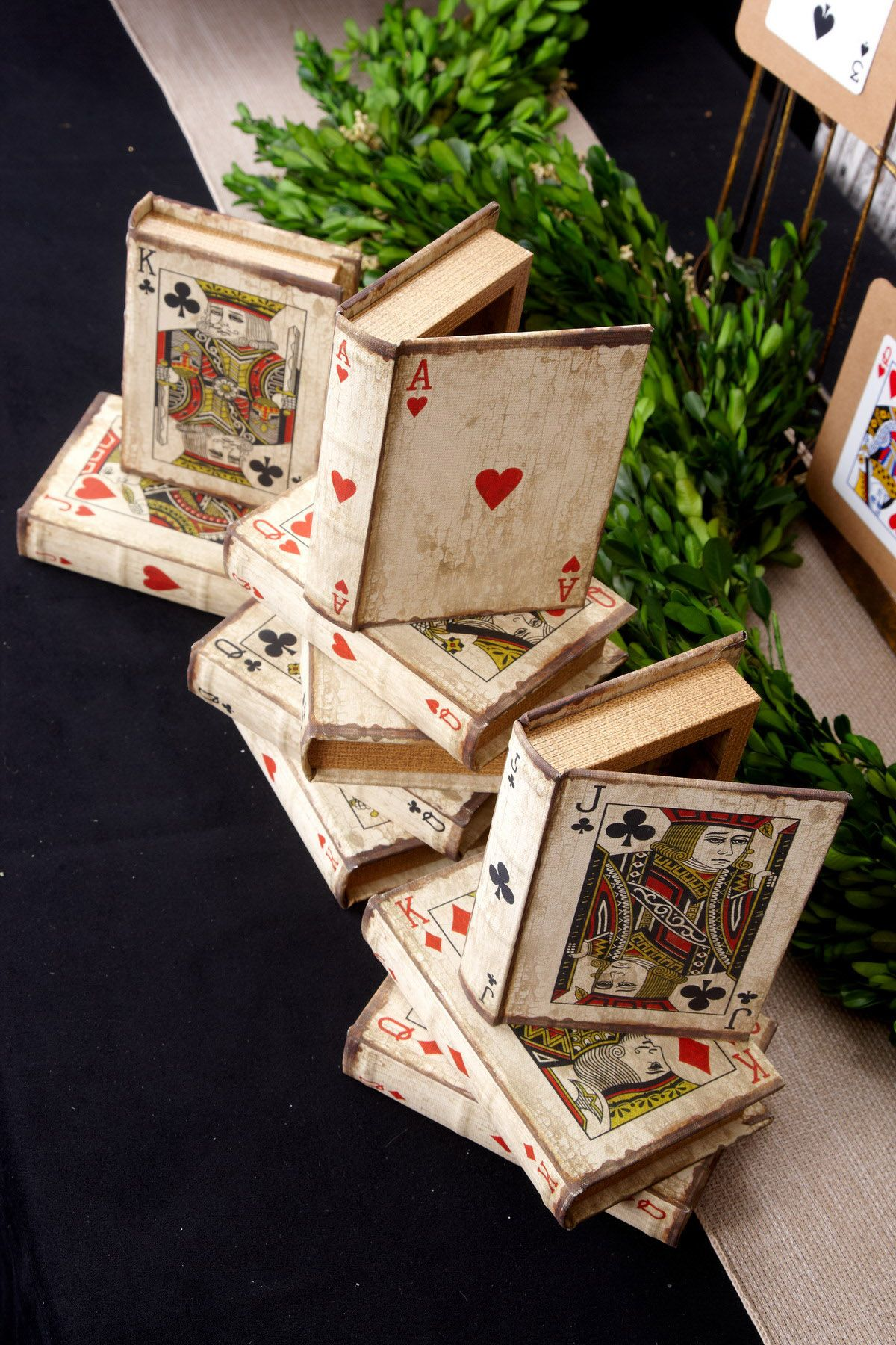 Set The Table Book Set Of 16 Vintage Playing Card Boxes Set Of 16 Playing Card