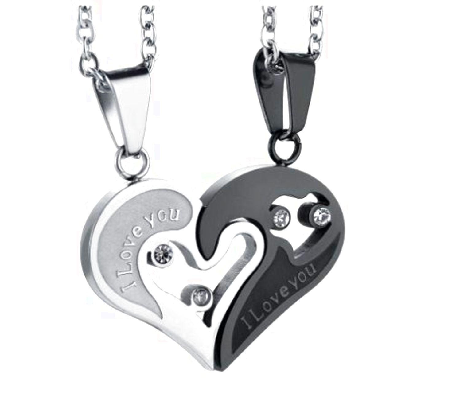 Valentines Day Gift Stainless Steel Necklace Pendant Puzzle For ...