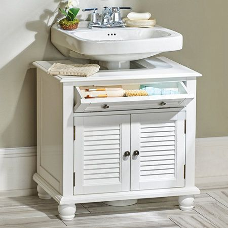 Newport Louvered Pedestal Sink Cabinet  House