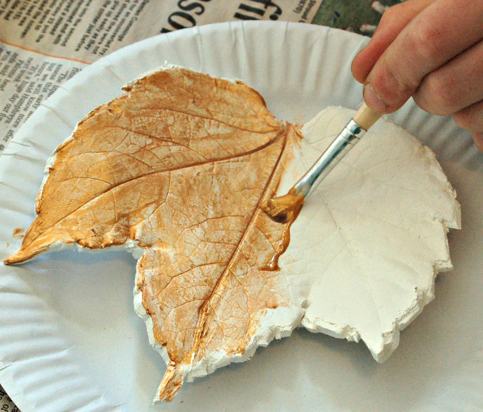 Air dried clay leaves air dry clay clay and leaves