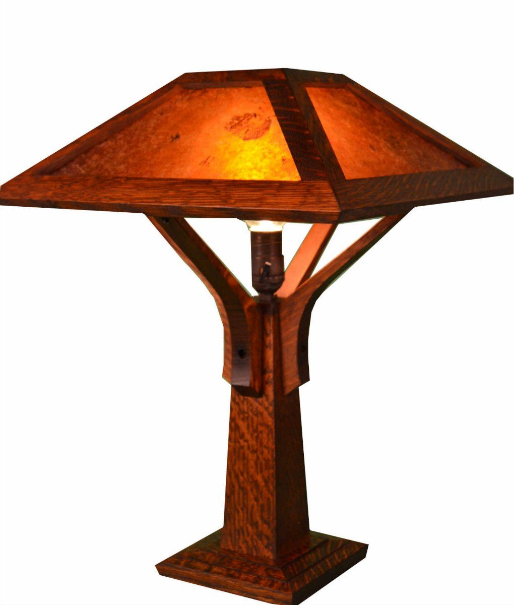 Mission Craftsman Table Lamp Little Brown Wall decor