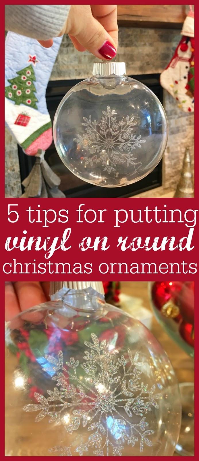 5 Tricks To Putting Vinyl Designs On Round Christmas Ornaments Silhouette Video Tutorial Diy Christmas Ornaments Vinyl Ornaments Cricut Ornaments