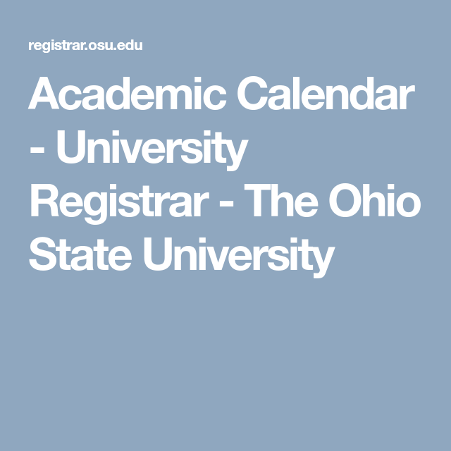 Ohio State Academic Calendar 2022 2023.O H I O S T A T E U N I V E R S I T Y S E M E S T E R C A L E N D A R Zonealarm Results