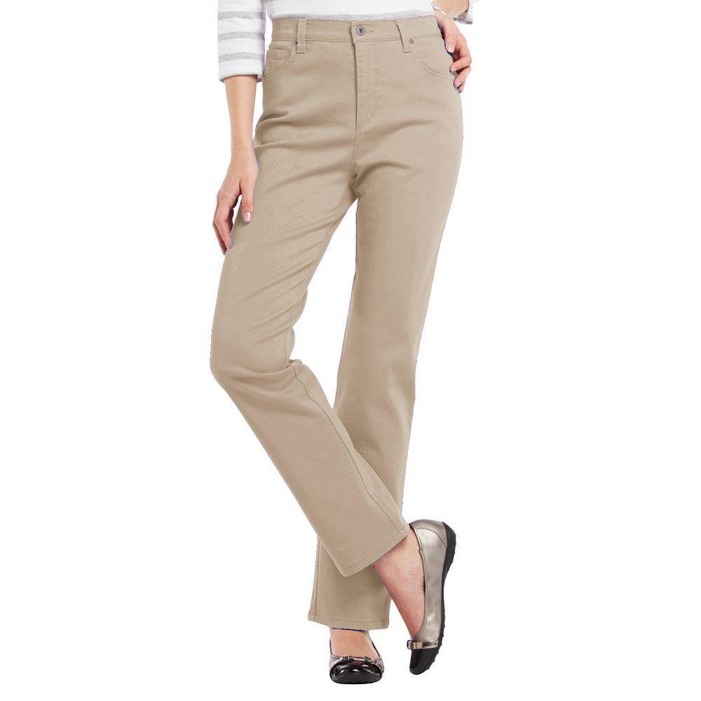 33aa21144635d Petite Gloria Vanderbilt Amanda Classic Tapered Jeans, Women's, Size:  12P-Short, Beig/Green (Beig/Khaki)