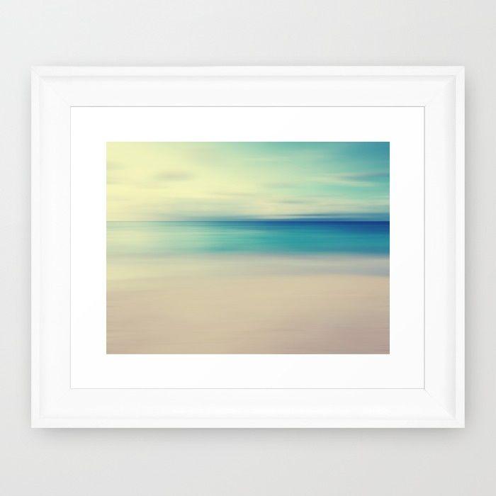Beach Framed Art Print   Simple Decor   Pinterest   Beach frame