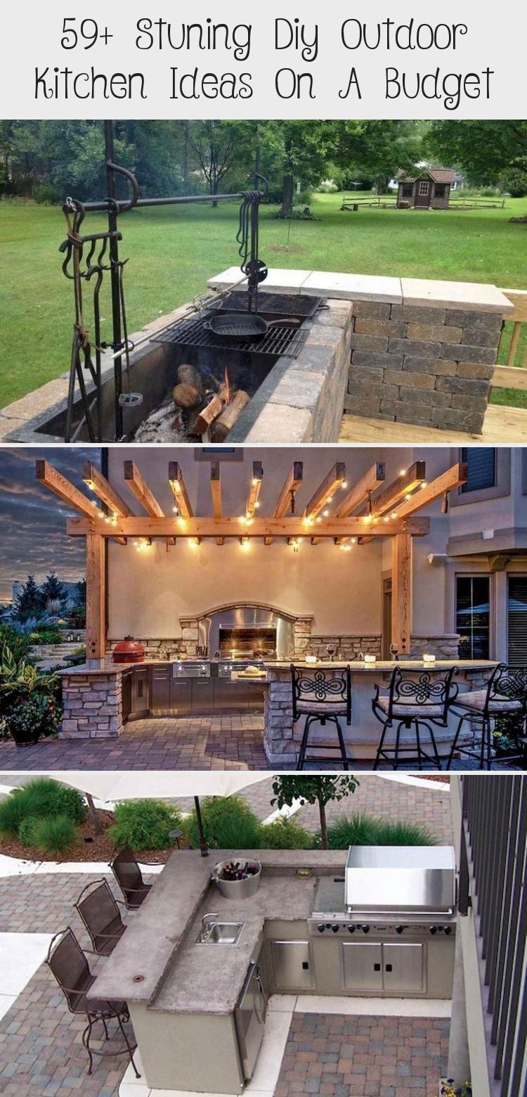 59 stuning diy outdoor kitchen ideas on a budget kitchendesign kitchenremodel k in 2020 on outdoor kitchen ideas on a budget id=36230