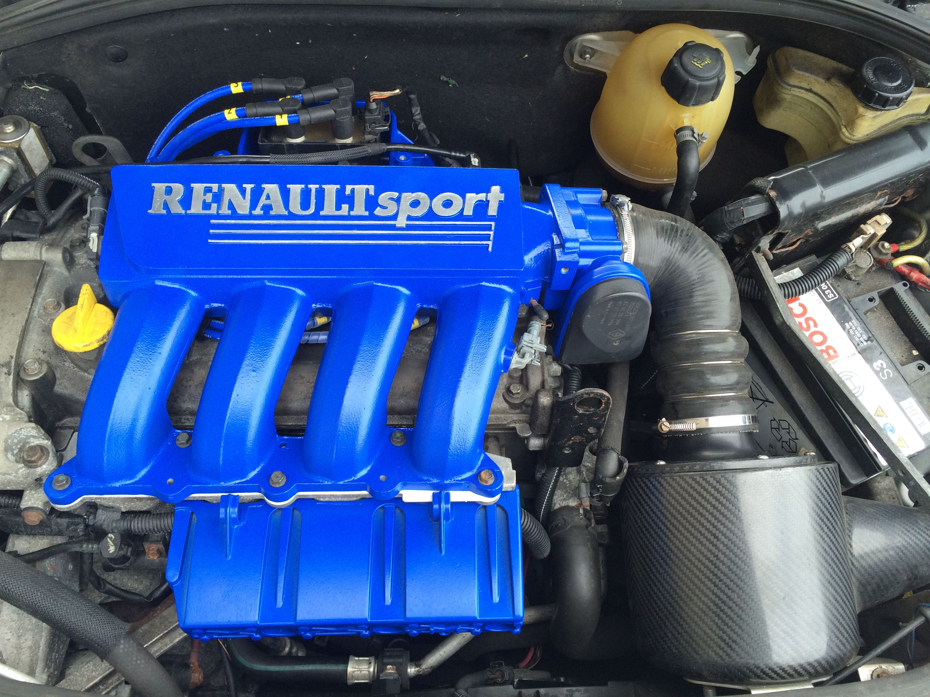 Clio Inlet Manifold Ceramic Coated Electric Blue By Performance 1 Coatings Coches Mecanica
