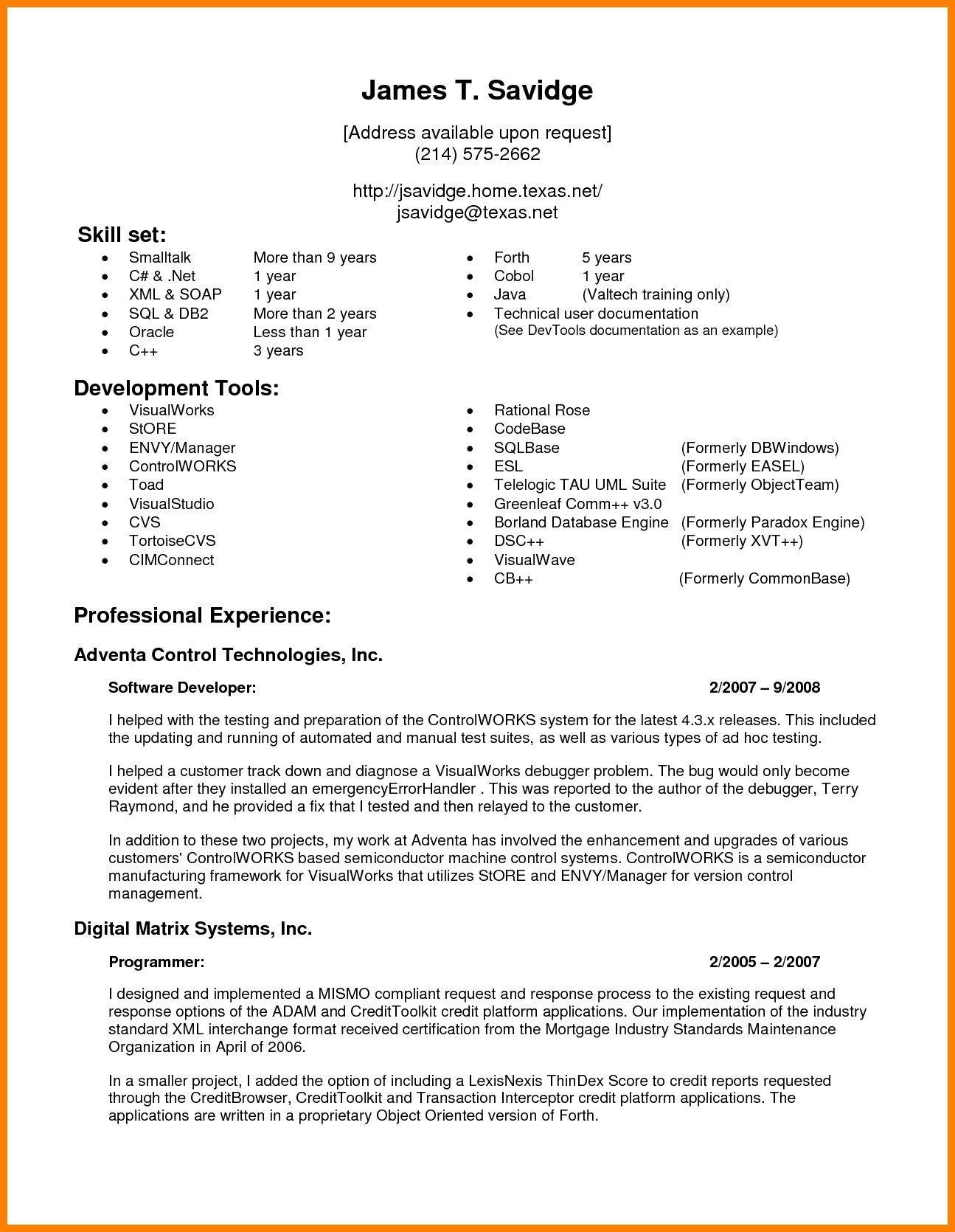 Resume Format Options Resume Format Best Resume Format Resume Examples Resume Format