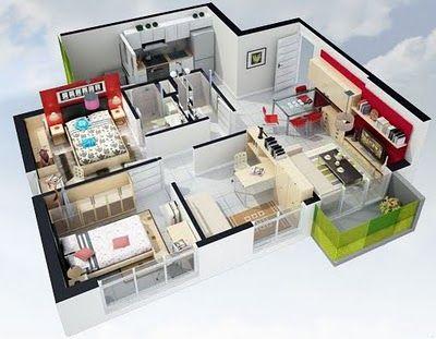 Planos 3d planos de casas gratis y departamentos en for Programa diseno casas