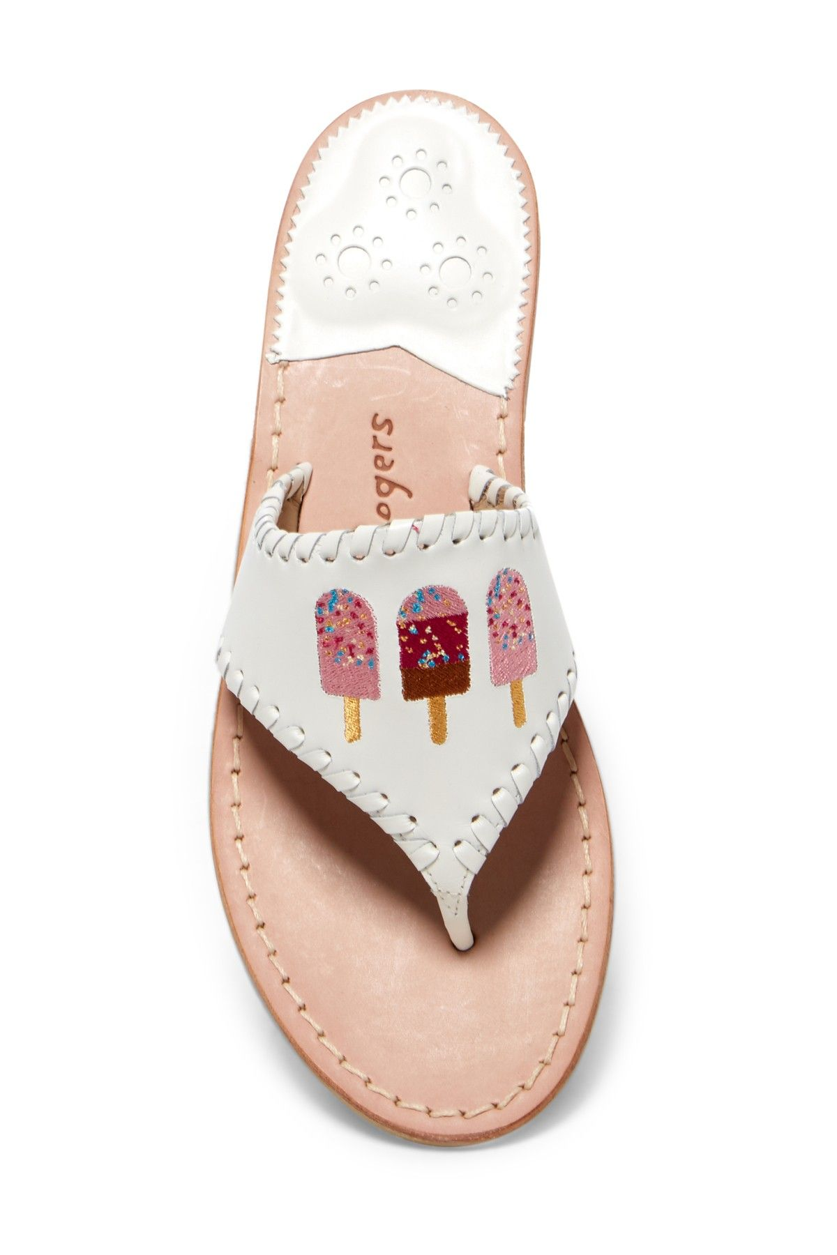 Jack Rogers Ice Cream Pops Embroidered Thong Sandal 8Lknh