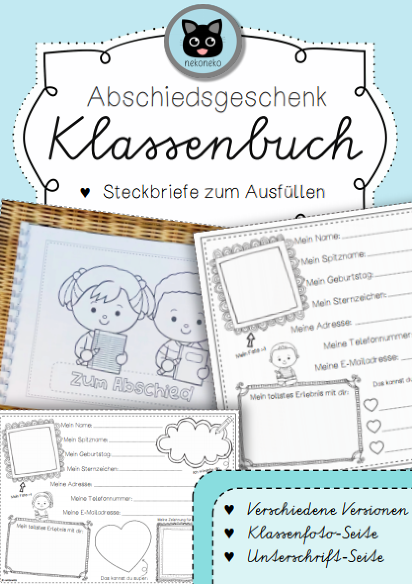 Steckbrief Abschied Grundschule