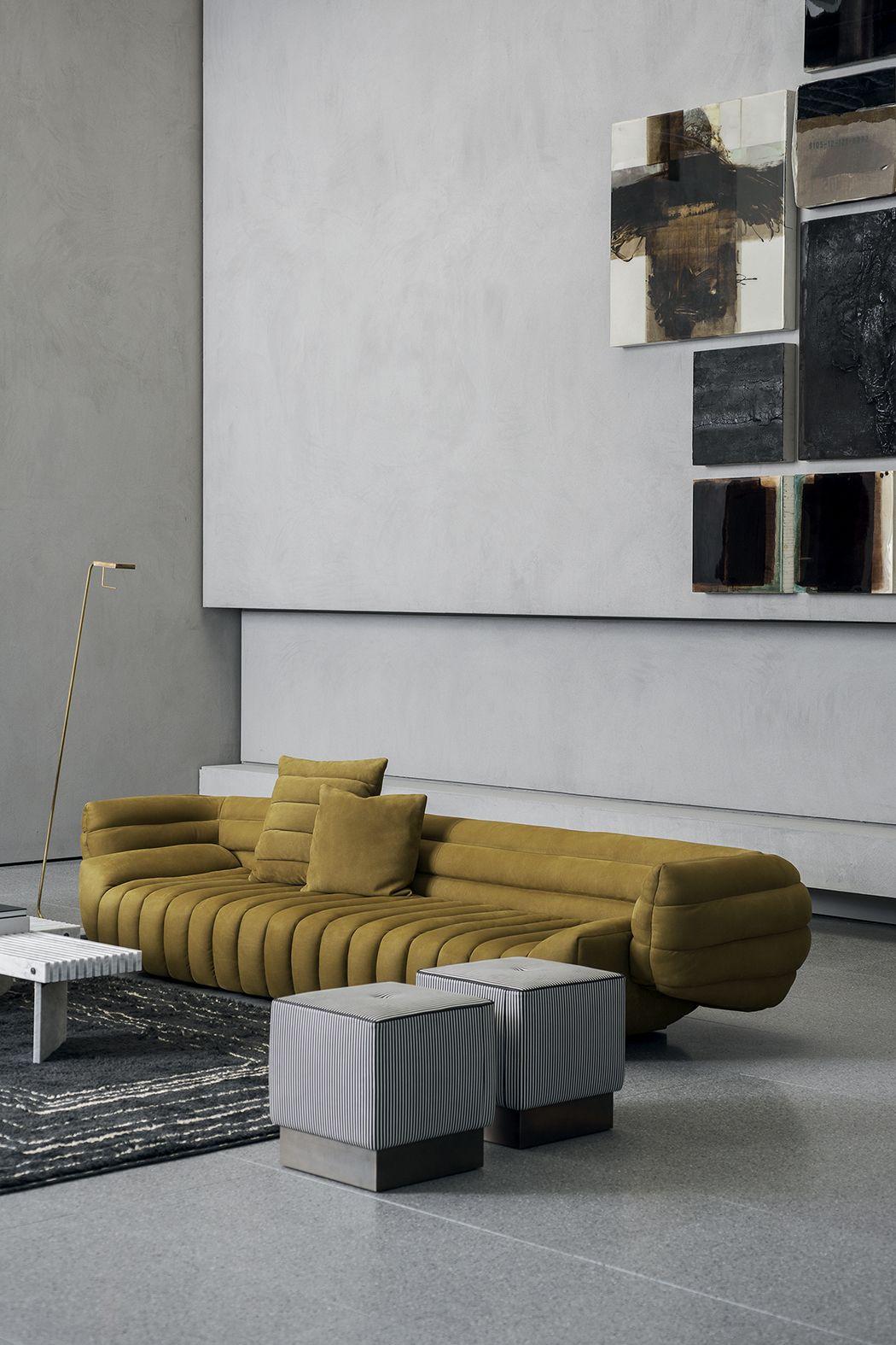 Pouf Design Pelle.Pouf Anais Design Draga Aurel Texture Day Thick Line