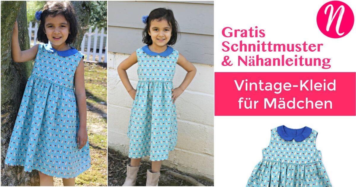 Kinderkleid mit Bubikragen - Freebook