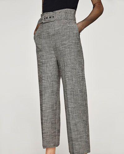 pantalon escoces mujer zara