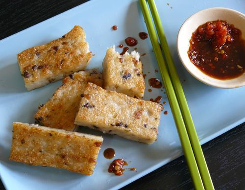 Vegetarian Daikon Rice Cakes A La Slanted Door Recipe Luo Bo Gao