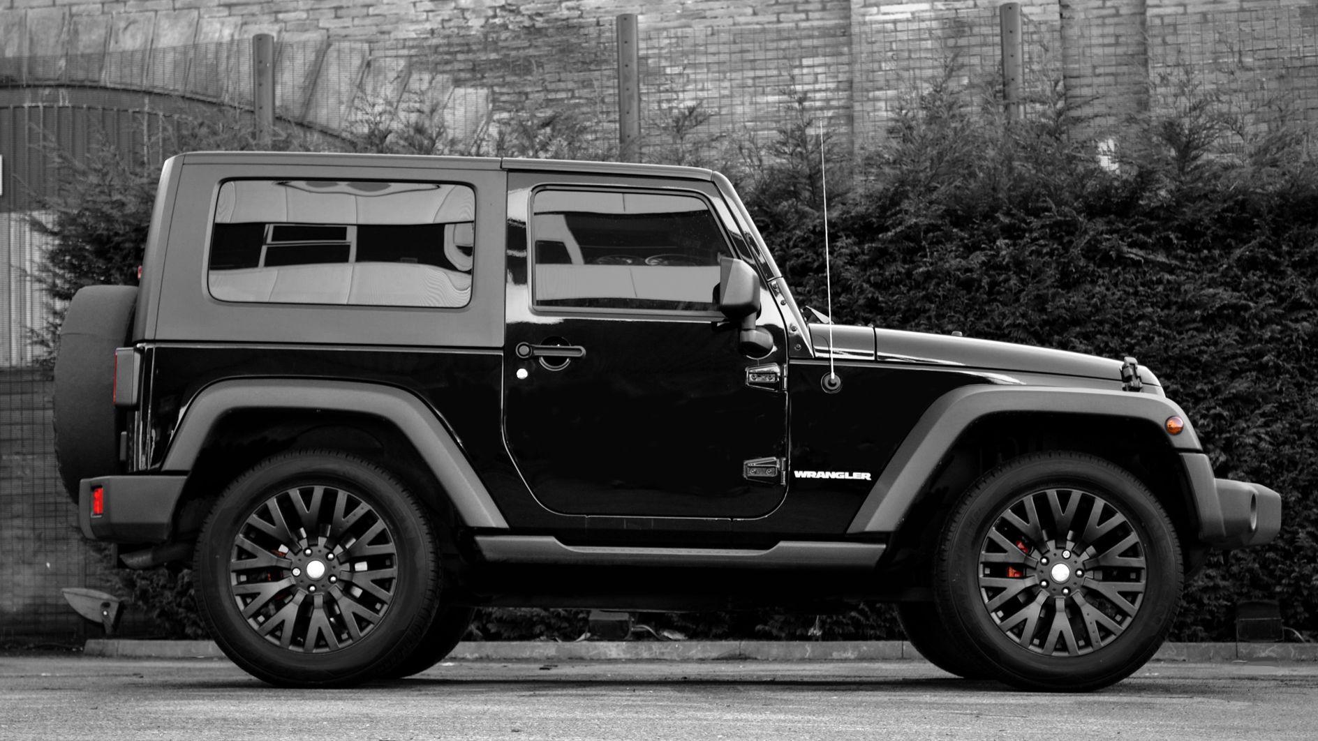 Black 2 door jeep wrangler