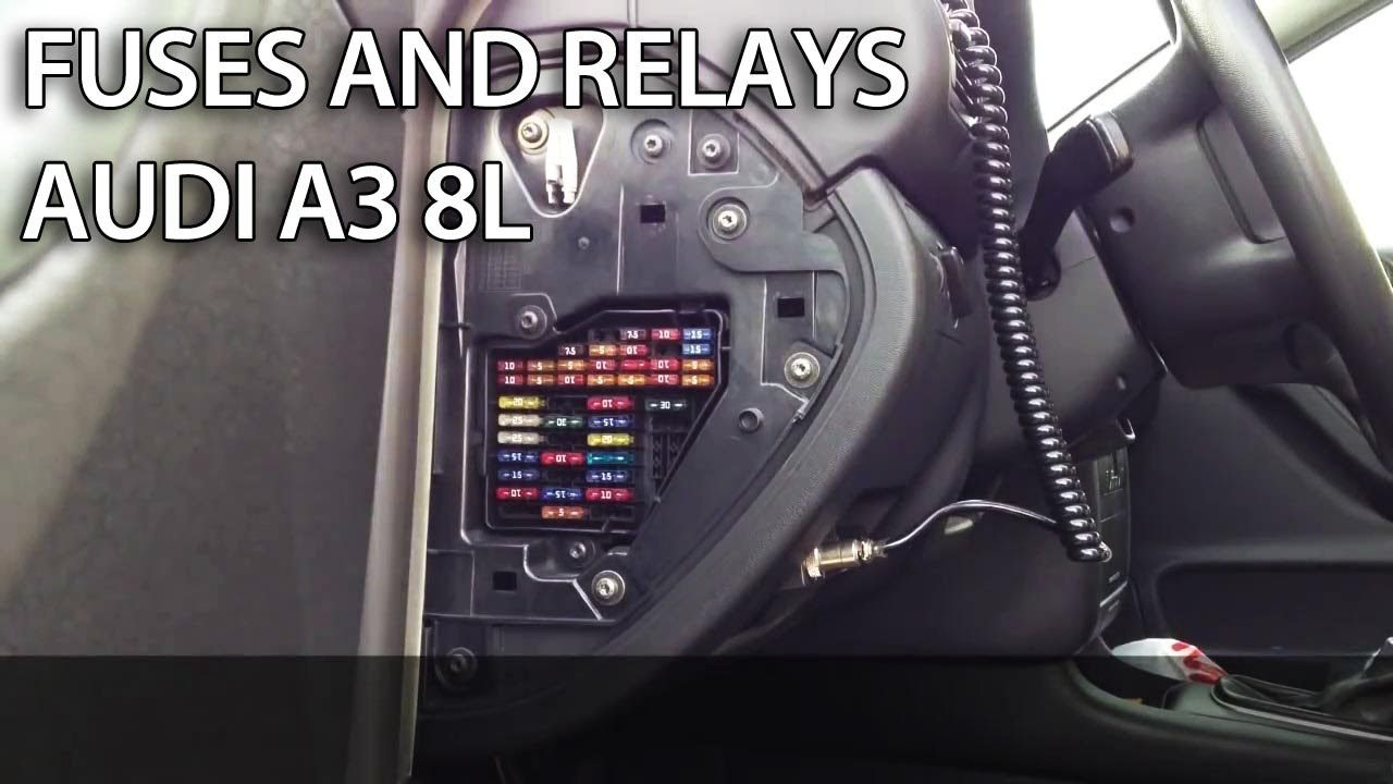 Where are fuses and relays in #Audi #A3 8L (fuse box)