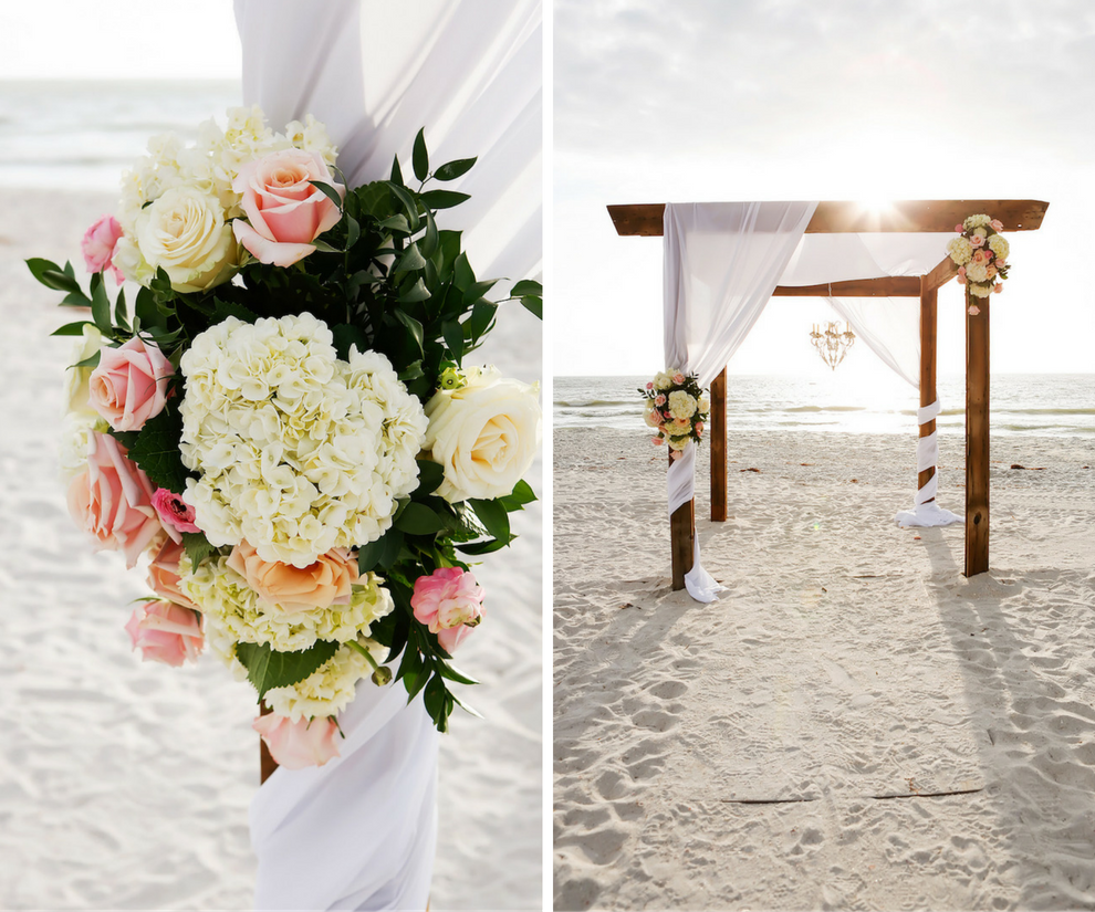 Beach Wedding Decorations Ideas: Pink And Gold Destination Clearwater Beach Wedding