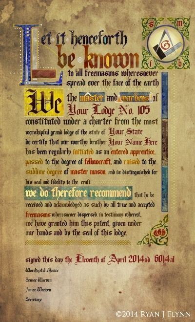 The Original Illuminated Master Mason Masonic Patent   eBay