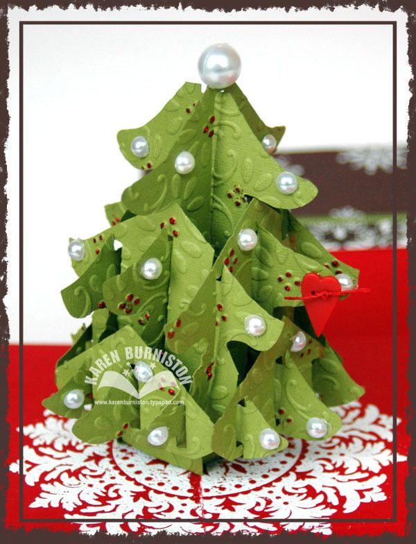 Stampin Up Sizzix Bigz Xl Pop Up O Christmas Tree Die 3d Fun To Decorate Christmas Elizabeth Craft Designs Christmas Cards