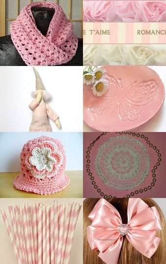 One of my pink 1960s sheaths is in this treasury! #etsy #vintage #fashion #1960s