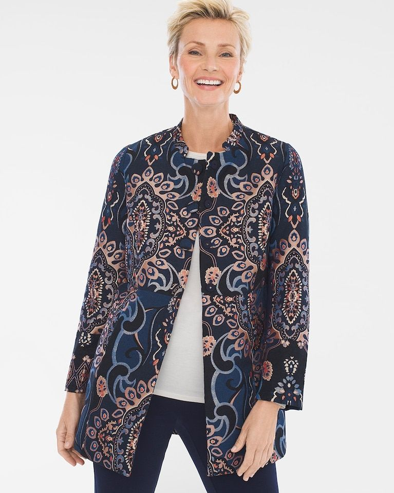 69d0a475368c Chico's Women's Jacquard Jacket in 2019 | Products | Jackets ...