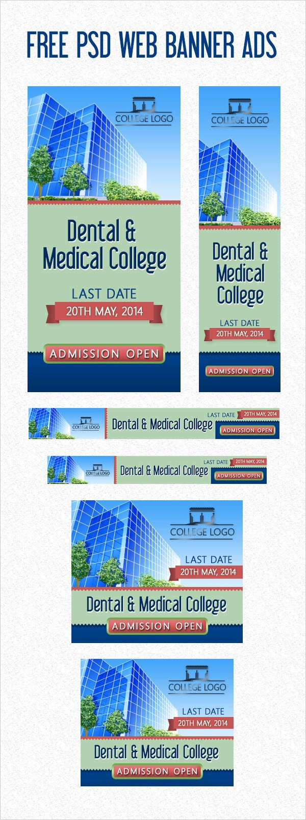 Free PSD Web Banner Ads1 Free PSD College/University Web Banner ...