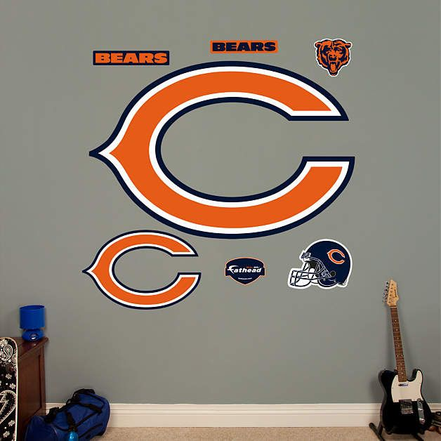fathead chicago bears c logo wall graphic bear wall on wall logo decal id=97845