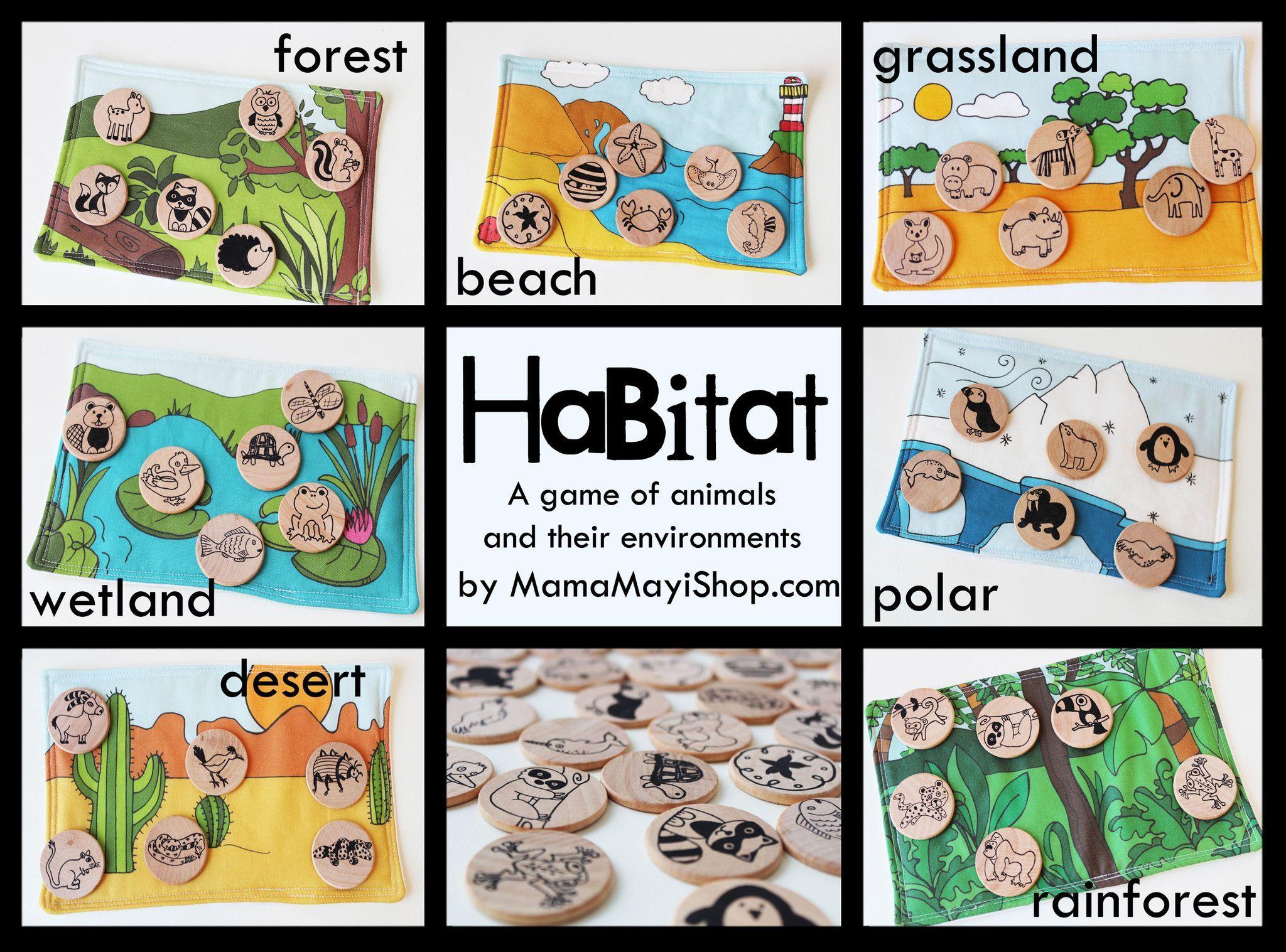 habitat happy learning types pinterest habitats animal habitats and preschool science. Black Bedroom Furniture Sets. Home Design Ideas