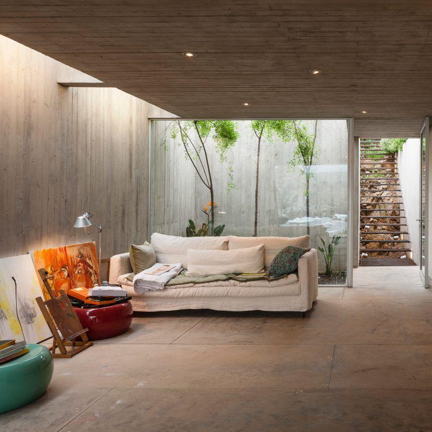 Painters Studio Felipe Assadi Concrete Interiors Dezeen Col